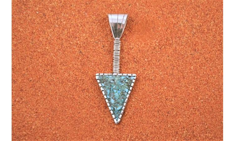 Arrow turquoise pendant