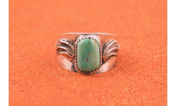 Bague homme turquoise