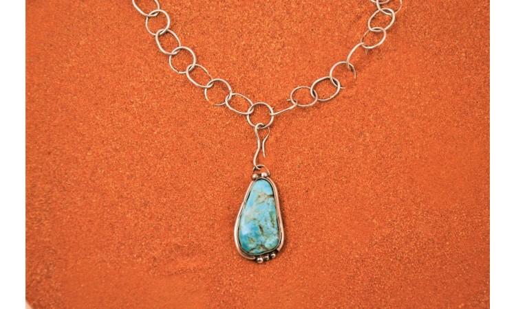 Collier turquoise d'arizona