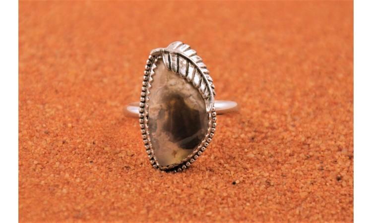 Lightning Ridge opal ring