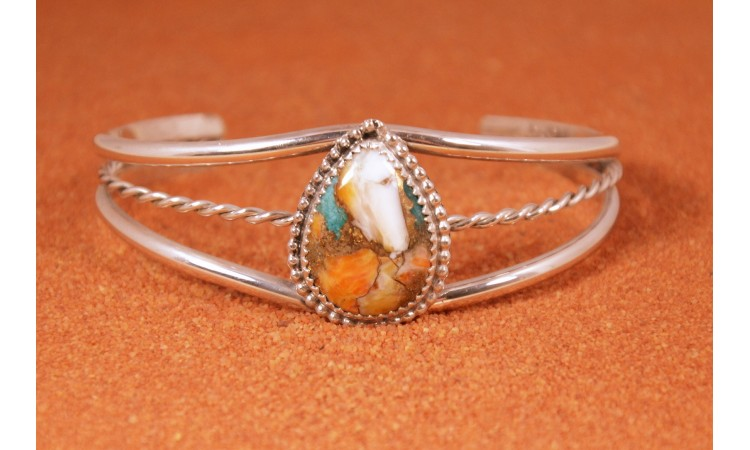 Oyster copper turquoise bracelet
