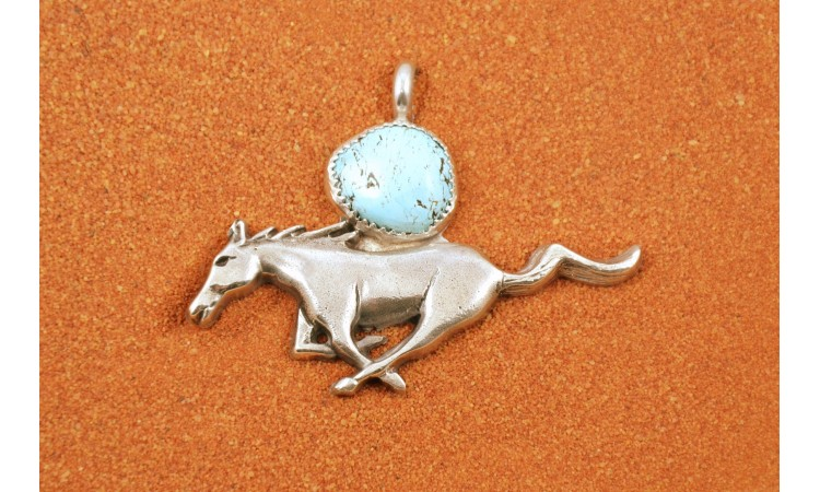 Turquoise Mustang pendant